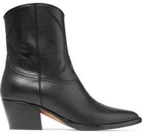 Valentino Leather Cowboy Boots