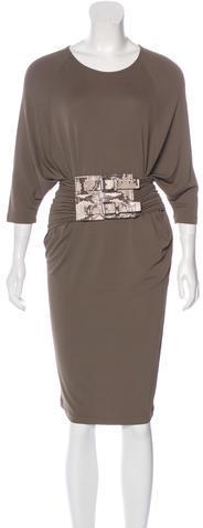 MICHAEL Michael KorsMichael Kors Belted Midi Dress