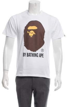 A Bathing Ape Bape Logo Graphic Print T-Shirt w/ Tags