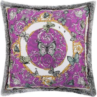 Versace Le Jardin Silk Reversible Cushion - 30x30cm - Pink