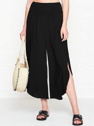 Seafolly Shirred Waist Wrap Trousers - Black