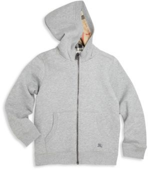 Burberry Little Boy's & Boy's Pearcy Hoodie $150 thestylecure.com