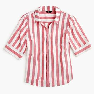 J.Crew Tall short-sleeve button-up shirt in wide stripe