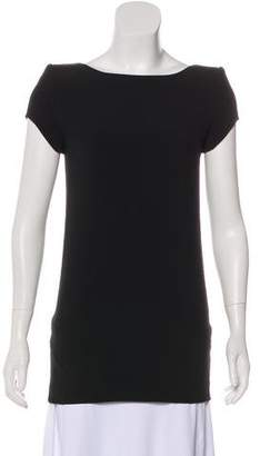 Saint Laurent Crepe Short Sleeve Tunic