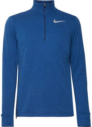 Nike Running Element Mélange Dri-Fit Therma Sphere Half-Zip Top