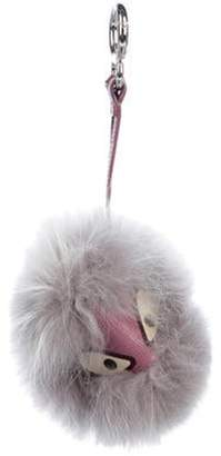 Fendi Jessy JR Fox Fur Bag Bug Charm Jessy JR Fox Fur Bag Bug Charm