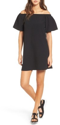 Women's Bp. Off The Shoulder Shift Dress $49 thestylecure.com