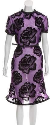 Christopher Kane Flock Tulle Midi Dress