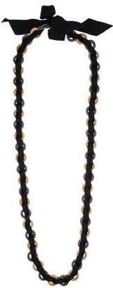Paule Ka Two-Tone Ribbon Collar Necklace