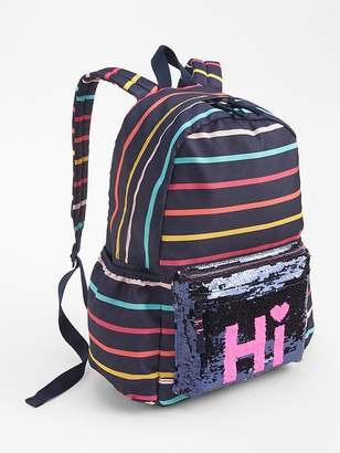 Gap Flippy Sequin Stripe Backpack