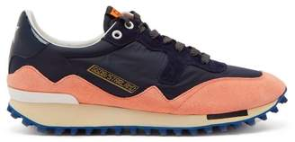 Golden Goose Deluxe Brand - Starland Suede Raised Sole Low Top Trainers - Womens - Pink Navy