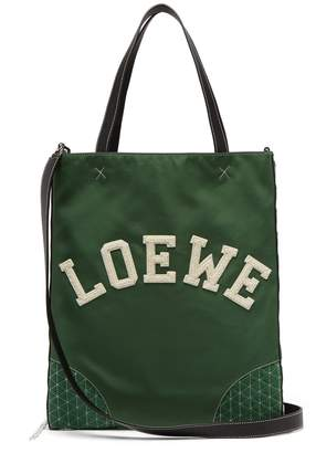 Loewe Sneaker leather and nylon tote bag