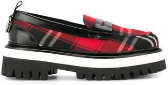 MSGM tartan platform loafers