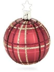 Grand Check Glass Ball Ornament