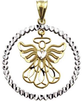 US Gold US GOLD Handcrafted 10kt Yellow Gold Angel Charm Pendant