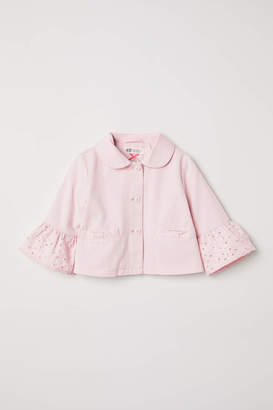 H&M Jacket with Eyelet Embroidery - Light pink - Kids