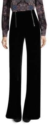 Nanette Lepore Textured Victoria Wide-Leg Velvet Pants