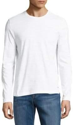 HUGO BOSS Textured Cotton Long-Sleeve Tee
