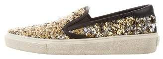 Saint Laurent Sequin Slip-On Sneakers