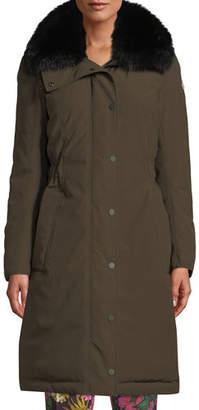 Moncler Jasseur Parka Coat w/ Removable Fur Collar