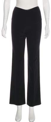 Blumarine Faux Leather-Trimmed Mid-Rise Pants w/ Tags