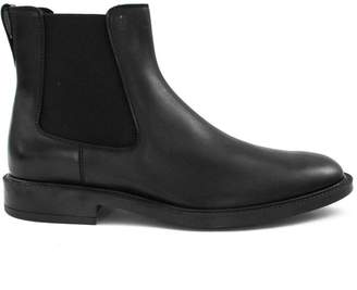 Tod's Black Ankle Boots In Smooth Leather.