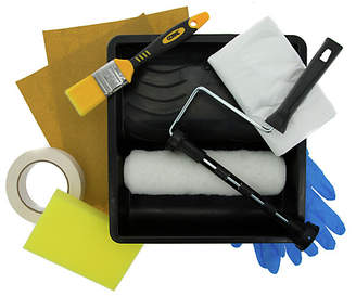 Coral Paint Roller, Brush, and Preparation Set