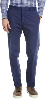 Ermenegildo Zegna Tricot Twill Flat-Front Pants