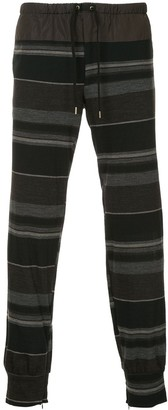 Kolor striped track trousers