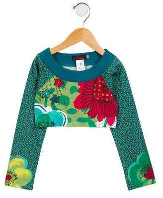 Catimini Girls' Floral Crop Top