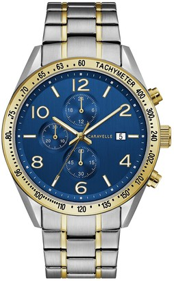 Caravelle Men's Two Tone Stainless Steel Chronograph Watch - 45B152