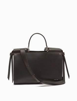 Calvin Klein Leather 3-Compartment Satchel