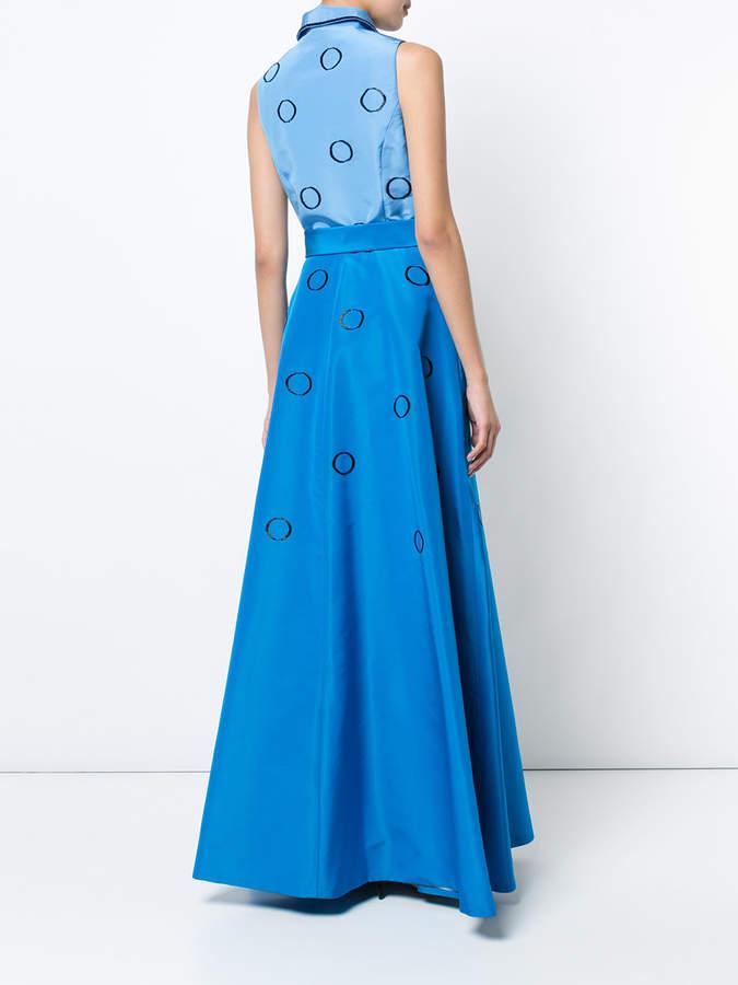 Carolina Herrera embroidered faille shirt gown