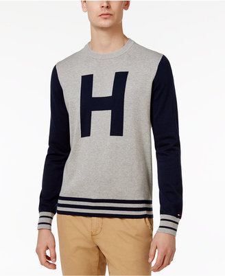 Tommy Hilfiger Men's Colorblocked Varsity-Inspired Cotton Sweater $79.50 thestylecure.com