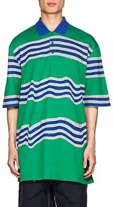 Martine Rose Napa by Men's Ego Striped Cotton Oversized Polo Shirt