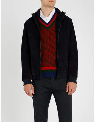 Etro Hooded suede shearling jacket
