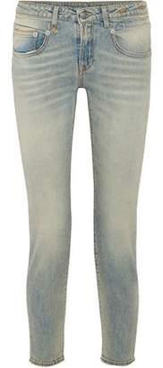 R 13 Leyton Low-Rise Slim-Leg Jeans