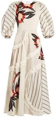 Roksanda Kayine floral-print linen-blend dress