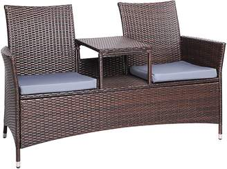 Resort Living Outdoor Settings Hassan 2 Seater Outdoor Bench, Brown