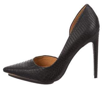L.A.M.B. Embossed Leather Pumps