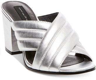 STEVEN By Steve Madden Women's Zada Slide-On Block-Heel Sandals $119 thestylecure.com