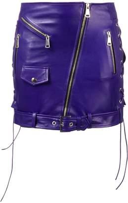 Manokhi zipped biker mini skirt