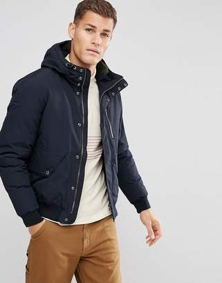 Esprit Short Parka With Fleece Lined Hood