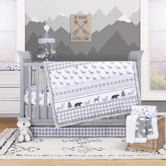The Peanut Shell Forest Dream 3-Piece Crib Bedding Set