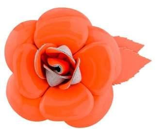 Chanel Camellia Brooch Orange Camellia Brooch