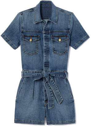 Goop x Frame Pleated One-Piece Coverall Shorts
