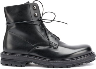Officine Creative lace up military boots