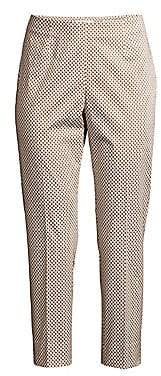 Peserico Women's Printed Stretch-Cotton Pants