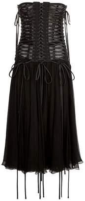 Dolce & Gabbana Laced Corset Bandeau Dress