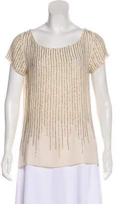 Calypso Short Sleeve Sequin Top